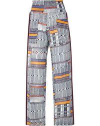 lemlem - Kente Smocked Canvas-trimmed Printed Cotton-gauze Trousers - Lyst
