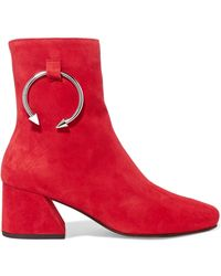 Dorateymur - Nizip Embellished Suede Ankle Boots - Lyst