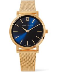 Larsson & Jennings - Lugano Solaris Gold-plated Watch - Lyst