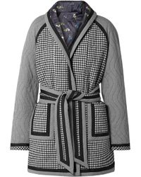Opening Ceremony - Reversible Belted Printed Woven And Satin Coat - Lyst