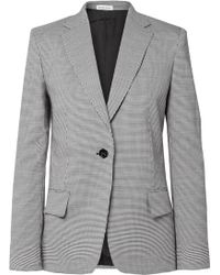 Tomas Maier - Pepita Houndstooth Wool And Cotton-blend Blazer - Lyst