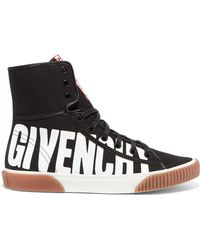 Givenchy - Logo-print Canvas High-top Trainers - Lyst