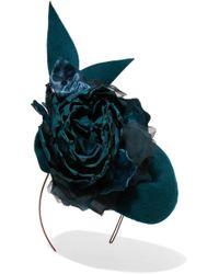 Philip Treacy - Embellished Velour Headpiece - Lyst