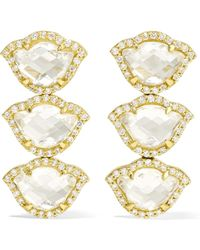 Amrapali - Nalika Lotus 18-karat Gold, Topaz And Diamond Earrings - Lyst