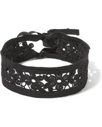 Anna Sui - Guipure Lace And Grosgrain Choker - Lyst