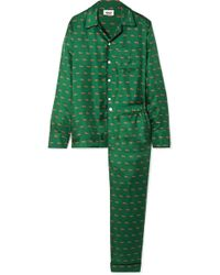 971119c1c0de Sleepy Jones - Henry Printed Silk-twill Pajama Set - Lyst