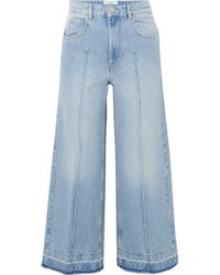 Étoile Isabel Marant - Cabrio Cropped High-rise Wide-leg Jeans - Lyst