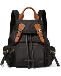 Burberry Prorsum - Small Leather-trimmed Gabardine Backpack - Lyst
