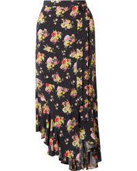 Preen Line - Sibyll Asymmetric Floral-print Crepe De Chine Wrap Midi Skirt - Lyst