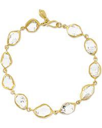 Pippa Small - 18-karat Gold Herkimer Diamond Bracelet - Lyst