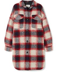 Étoile Isabel Marant - Gario Oversized Checked Wool-blend Flannel Coat - Lyst