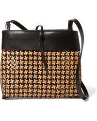 Kara - Tie Woven Leather Shoulder Bag - Lyst