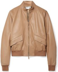 The Row - Erhly Leather Bomber Jacket - Lyst