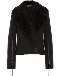 Calvin Klein - Hiam Shearling-trimmed Wool Jacket - Lyst