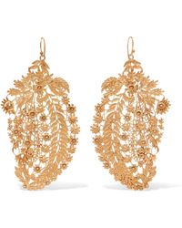Etro - Gold-tone Crystal Earrings Gold One Size - Lyst
