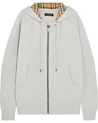 Burberry - Oversized Cotton-terry Hooded Top - Lyst
