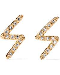 Melissa Joy Manning - 14-karat Gold Diamond Earrings Gold One Size - Lyst