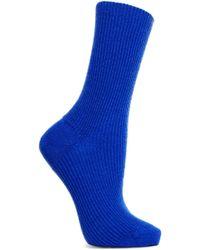 Maria La Rosa - Ribbed Cashmere Socks - Lyst