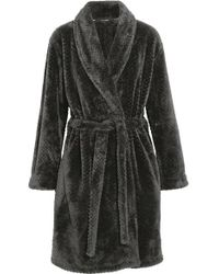 Calvin Klein - Harmony Velour Robe - Lyst
