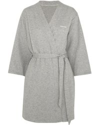 CALVIN KLEIN 205W39NYC - Harmony Quilted Cotton-blend Robe - Lyst
