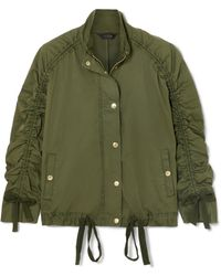 J.Crew - Ruched Stretch-cotton Jacket - Lyst
