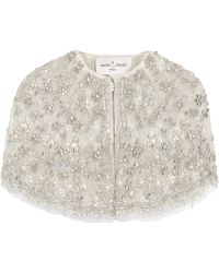 Needle & Thread - Bridal Cropped Embellished Tulle Cape - Lyst