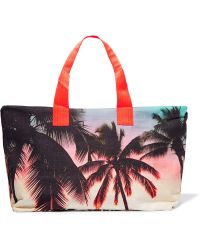 Samudra - Makaha Sunset Printed Cotton-canvas Holdall - Lyst