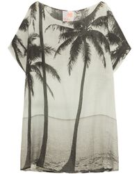 Samudra - Kalapana Printed Cotton And Silk-blend Coverup - Lyst