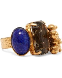 Etro - Gold-plated Crystal Ring - Lyst