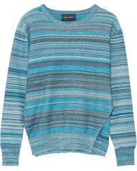 Baja East - Mélange Striped Cotton Sweater - Lyst