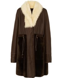 Chloé - Reversible Shearling Coat - Lyst