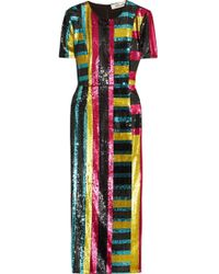 Diane von Furstenberg - Saxon Stripe Sequin Dress - Lyst