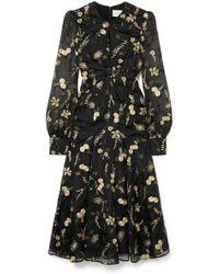 Erdem - Carwen Embroidered Silk-organza Midi Dress - Lyst