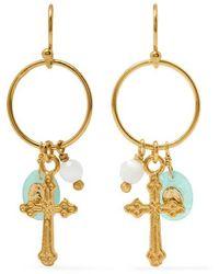 Chan Luu - Vergoldete Ohrringe Mit Amazonit Und Zierperle - Lyst