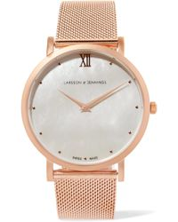 Larsson & Jennings - Lugano Bernadotte Rose Gold-plated Mother-of-pearl Watch - Lyst