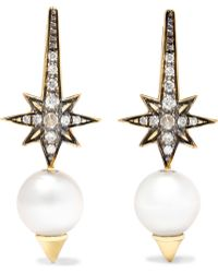 Venyx - Theiya 18-karat Gold Multi-stone Earrings - Lyst