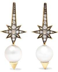 Venyx | Theiya 18-karat Gold Multi-stone Earrings | Lyst