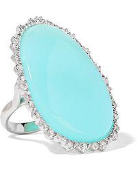 Kimberly Mcdonald - 18-karat White Gold, Opal And Diamond Ring - Lyst