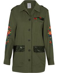 Steve J & Yoni P - Embroidered Sequined Cotton-blend Jacket - Lyst