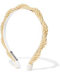 Yunotme - Charlize Satin Rope Headband - Lyst