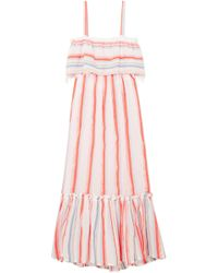 lemlem - Asha Tiered Striped Cotton-blend Gauze Maxi Dress - Lyst