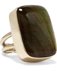 Anndra Neen | Claribel Gold-plated Labradorite Ring | Lyst