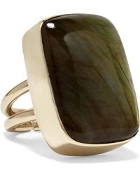 Anndra Neen - Claribel Gold-plated Labradorite Ring - Lyst