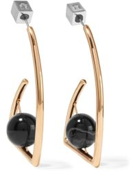Uribe - Beatrix Gold-plated Agate Earrings - Lyst