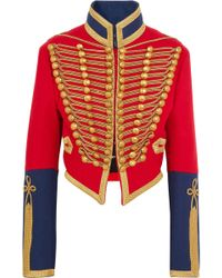 Burberry - Embellished Wool-felt Jacket - Lyst