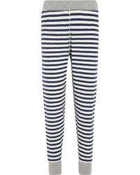 Sleepy Jones - Helen Striped Cotton-jersey Leggings - Lyst