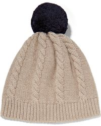 Chinti & Parker - Aran Cable-knit Merino Wool Beanie - Lyst