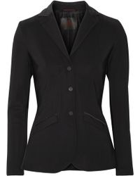 Cavalleria Toscana | Faux Suede-trimmed Tech-jersey Blazer | Lyst