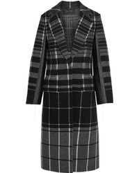 Calvin Klein - Checked Wool Coat - Lyst