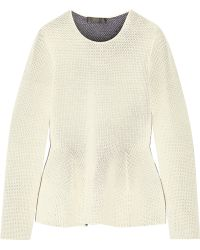 CALVIN KLEIN 205W39NYC - Open-knit Peplum Sweater - Lyst
